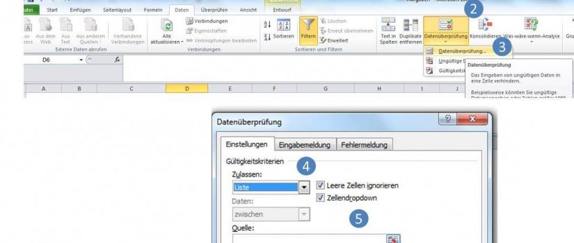 Dropdown Auswahlliste Excel