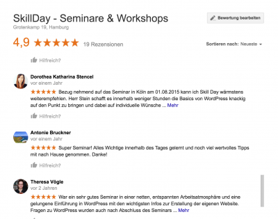 top seminare und workshops