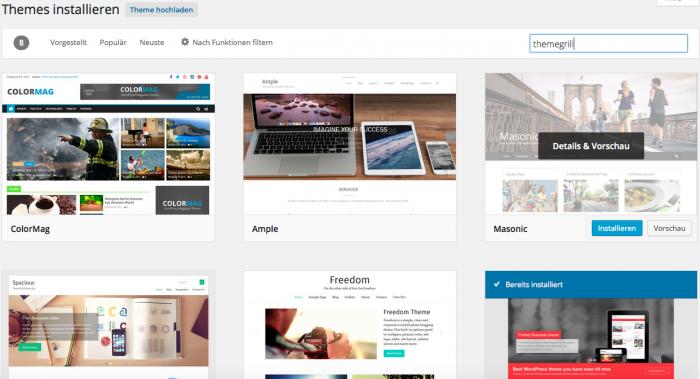 Screenshot: WordPress.org. Wählen Sie zu Beginn ein einfaches Theme und werden Sie erstmal mit WordPress vertraut.