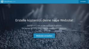 Screenshot WordPress.com
