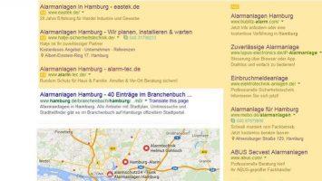 Lokales Suchmaschinenmarketing sorgt z.B. dafür, dass Sie auf die Google Karte gelangen