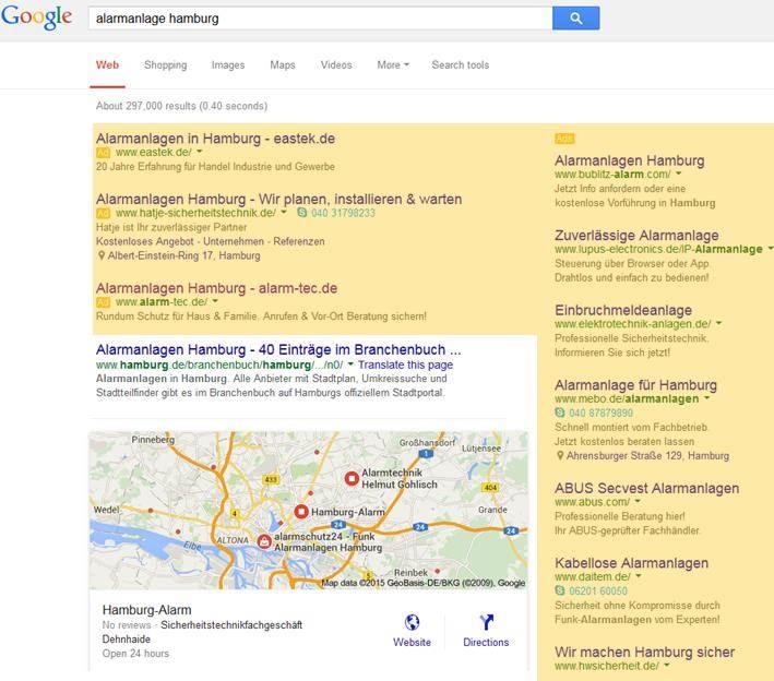 Google schafft rechte Adwords Anzeigenspalte ab