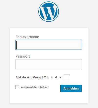 WordPress Login Adresse, Design und Sicherheit