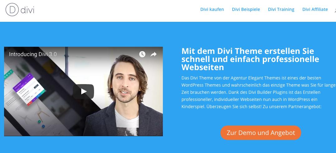 Divi Theme für WordPress: Beispiele, Erfahrungen & Tutorial auf deutsch