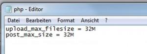 php.ini Datei