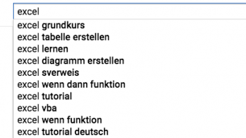 Content Marketing Ideen in YouTube finden. Screenshot Youtube.de