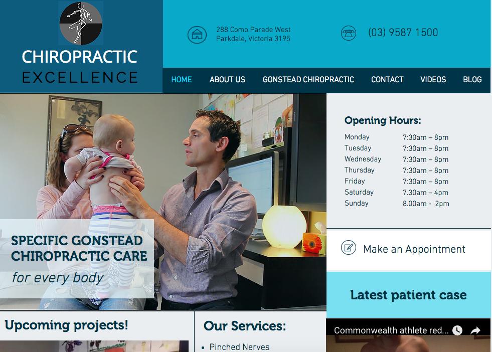 Screenshot: http://www.chiropracticexcellence.com.au/