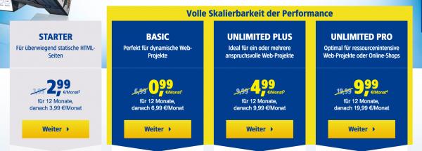 website erstellen - hosting 1und1