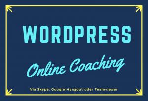 WordPress online Coaching für Anfänger