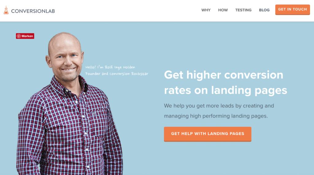 Landingpage Beispiel