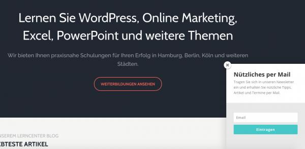 WordPress Newsletter Popup Plugin einrichten am Beispiel von Bloom