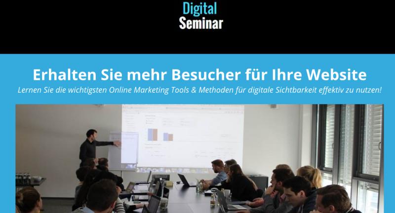 30 Tools & Methoden für mehr digitale Sichtbarkeit: Online Marketing kompakt Seminar am 30.11. in Hamburg (Schanze)