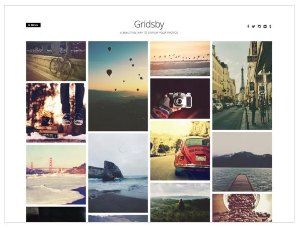 WordPress für Fotografen Theme Gridsby