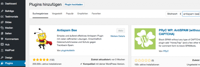 Spam Kommentare in WordPress verhindern