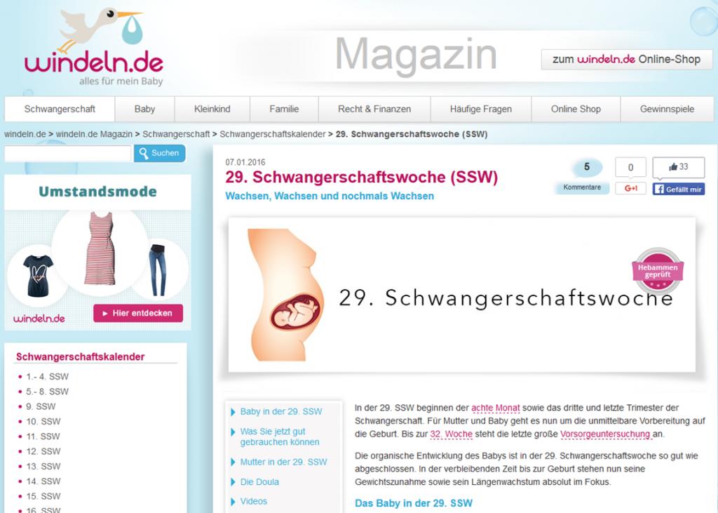 Sreenshot Windeln.de