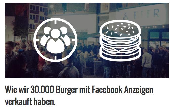 Quelle: http://smnerds.de/wie-wir-30000-burger-mit-facebook-ads-verkauft-haben/#Checkliste