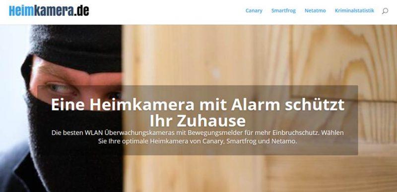 Onepager Landingpage Beispiel - heimkamera.de