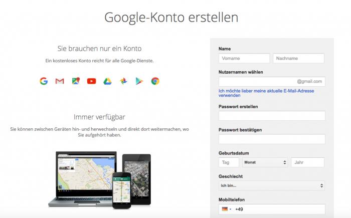 Google Konto erstellen Link, Tipps und Tutorial