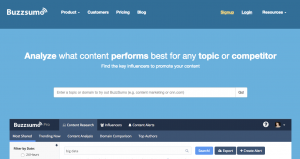 Screenshot http://buzzsumo.com/