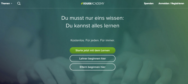 elearning Portal Khan Academy