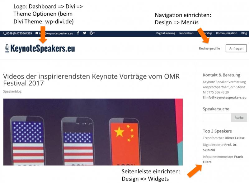 WordPress Fragen - Navigation und Widgets anpassen