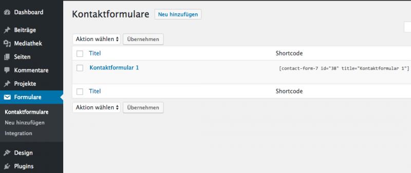 Kontaktformular in WordPress einfügen