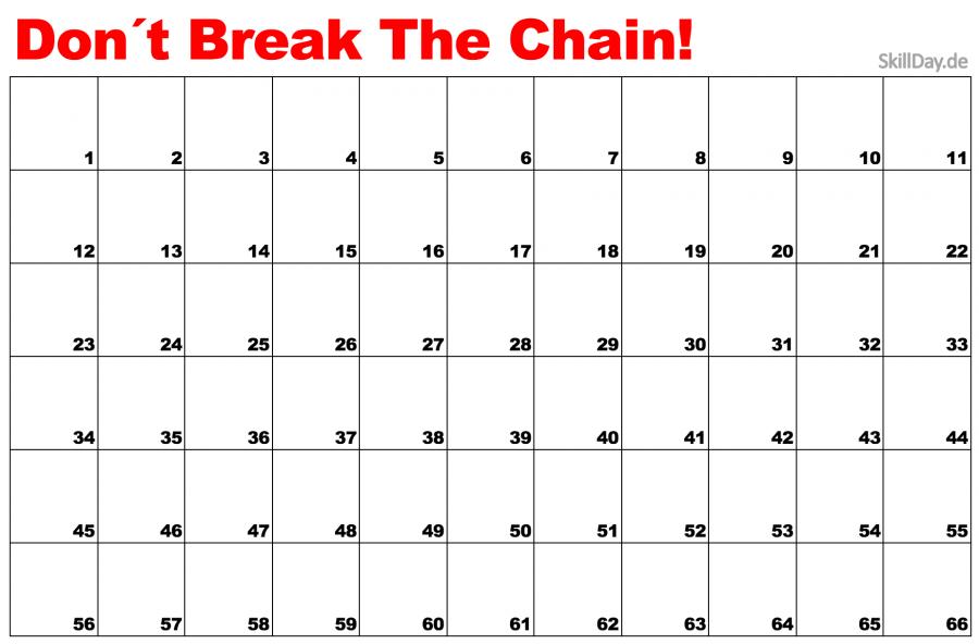 Don´t break the chain vorlage